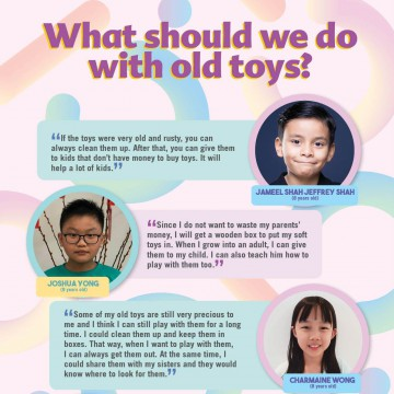 What should we do with old toys?