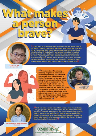 What makes a person brave?