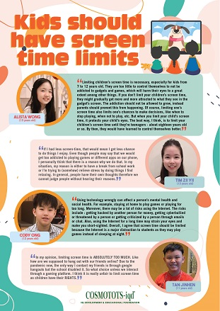 Kids should have screen time limits