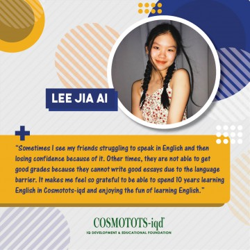 Our Alumni – What Jia Ai says…